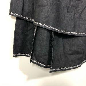 J. Jill Skirts - Black J.jill symmetrical Langenlook Exposed Stitch